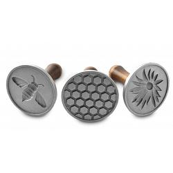 Nordic Ware Set of 3 Honeybee Cast Cookie Stamps 1