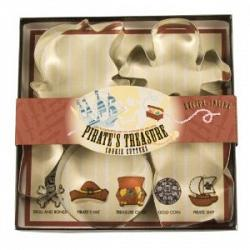 Fox Run Pirate\'s Treasure Cookie Cutter Set 1