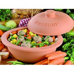 Romertopf 4-6 Person Large Round Clay Baker 1