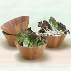 Bamboo Salad Bowl Set of 4 by Natural Living 1