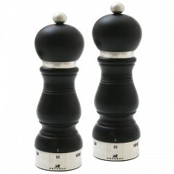 Peugeot Chateauneuf u\'Select Black Matte 24cm Salt & Pepper Mill Set 1