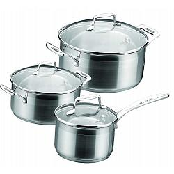 Scanpan Impact Stainless Steel Cookware Set of 3 1