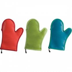Silicone Oven Mitt - Blue 1