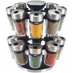 Cole & Mason 16-Jar Herb and Spice Carousel Rack 1