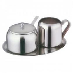 Stainless Steel Sugar and Creamer Set by Cuisinox 1