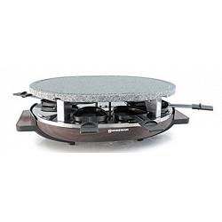 Swissmar 8 Person Matterhorn Raclette Grill with Granite Stone and Wood Base 1