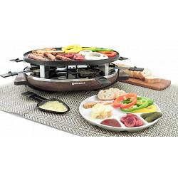 Swissmar 8 Person Matterhorn Raclette Grill with Wood Base 1