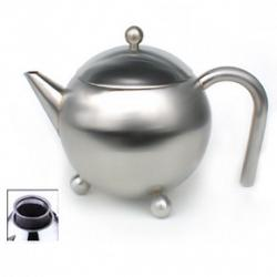 Stainless Steel Teapot w. Infuser by Cuisinox - Satin 0.9 Liter 1