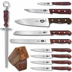 Victorinox Swiss Army 11-Piece Rosewood Knife Block Set 1