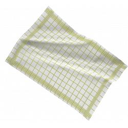 Ziczac Set of 3 Green Checkmate Kitchen Towels 1