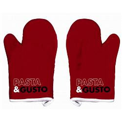 Ziczac Set of 2 Red Pasta & Gusto Oven Mitts 1