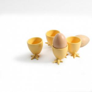 BIA Cordon Bleu Set of 4 Yellow Chicken Feet Egg Cups