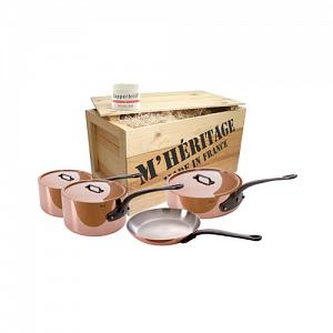Mauviel M'heritage M'250 7pc Copper Cookware Set