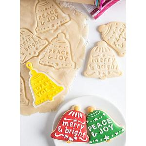 Bakelicious Christmas Bell Flip & Stamp Cookie Cutter