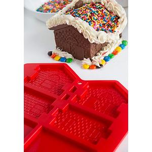 Bakelicious Barkitecture Gingerbread House Mold Set