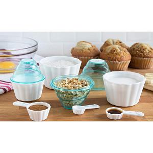 Bakelicious 9-in-1 Blue Measuring Cup & Spoon Set