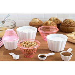 Bakelicious 9-in-1 Pink Measuring Cup & Spoon Set