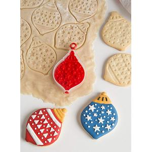 Bakelicious Christmas Ornament Flip & Stamp Cookie Cutter