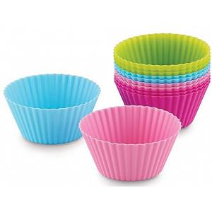 Bakelicious Set of 12 Silicone Cupcake Baking Cups