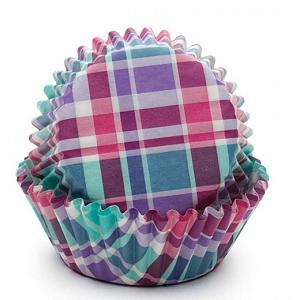 Fox Run Purple & Pink Madras Baking Cup Set of 50