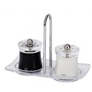 Peugeot Bali Salt & Pepper Mill Set with Tray