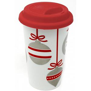 BIA Double Walled Christmas Ornament Travel Mug