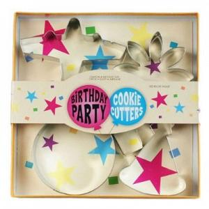 Fox Run Birthday Party Cookie Cutter Set
