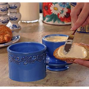Butter Bell Antique Azure Blue Butter Crock