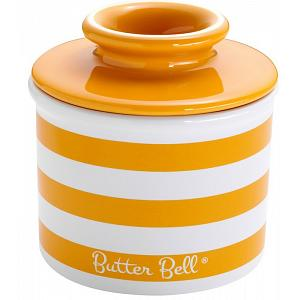 Butter Bell Yellow Stripe Butter Crock