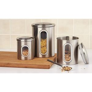 Fox Run Stainless Steel Canister Set of 3