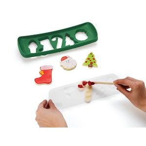 Chef'n Christmas Cookie Cutter & Stencil Set