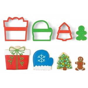 Fox Run Present Christmas Cookie Cutter Set of 4