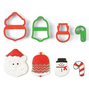Fox Run Santa Christmas Cookie Cutter Set of 4