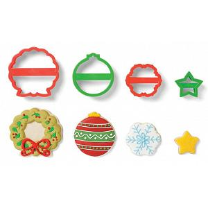 Fox Run Wreath Christmas Cookie Cutter Set of 4