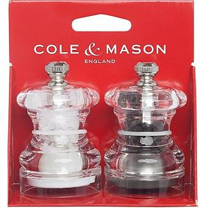 Cole & Mason Button Salt & Pepper Mill Set