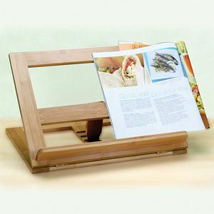 Natural Living Bamboo Cookbook Holder