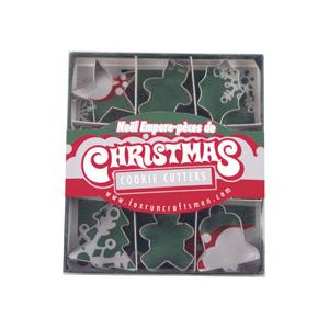 Fox Run 9 Piece Mini Christmas Cookie Cutter Set