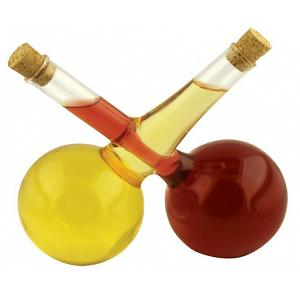 Criss-Cross Oil & Vinegar Bottle