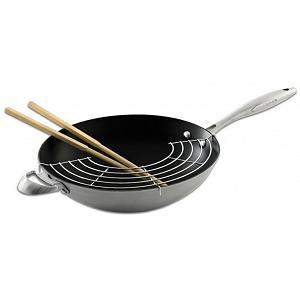"Scanpan CTX 12.75"" Wok with Rack & Sticks"