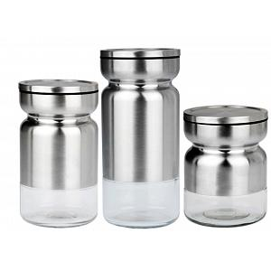 Cuisinox Stainless Steel Canister Set of 3