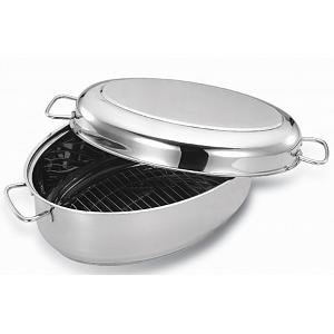 Cuisinox Stainless Steel Oval Roasting Pan with Rack