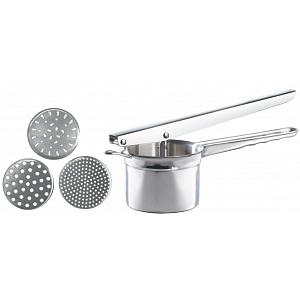 Cuisinox Stainless Steel Potato Ricer with 3 Disks