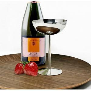Danesco Stainless Steel Champagne Coupe Goblet