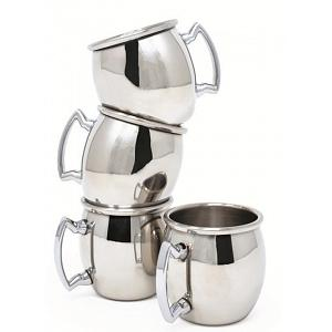 Danesco Set of 4 Stainless Steel Moscow Mule Shooters
