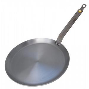 "De Buyer 10.25"" Mineral B Element Steel Crepe Pan"