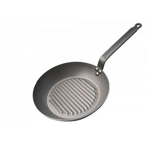 "De Buyer 12.5"" Mineral B Element Round Frying Grill Pan"