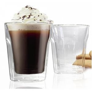 Danesco Set of 2 Double Walled Cappuccino Glasses