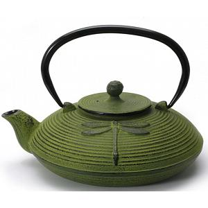 Zen Cuizine Dragonfly Green Cast Iron Teapot