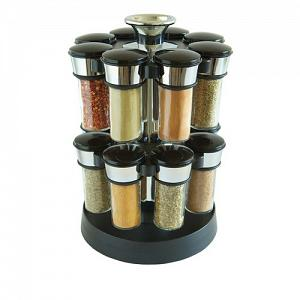 KitchenArt Elite Glass Spice Carousel