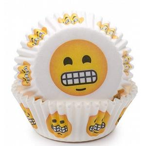 Fox Run Grin Emoji Baking Cup Set of 50